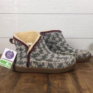 Sanuk Booties Boots Size 6 gray
